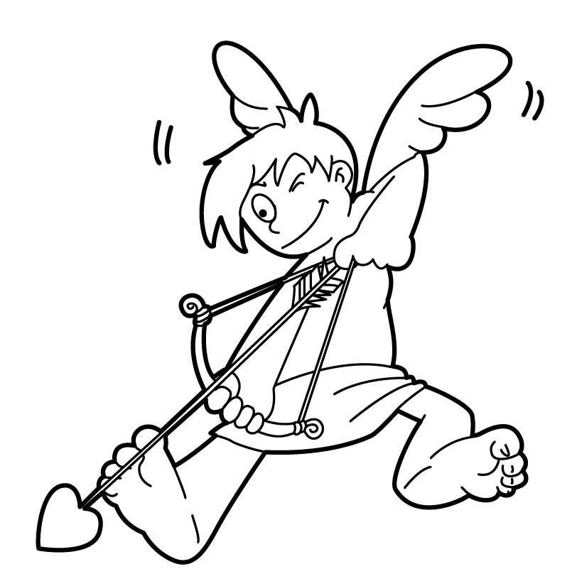 Cupid Coloring Pages to Print