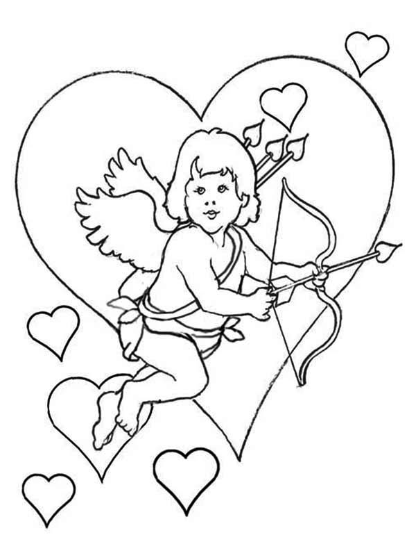 Cupid Coloring Pages Print
