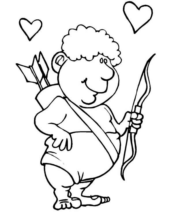 Cupid Coloring Pages 360coloringpages