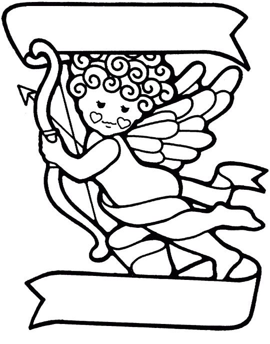 Cupid Coloring Pages Printable