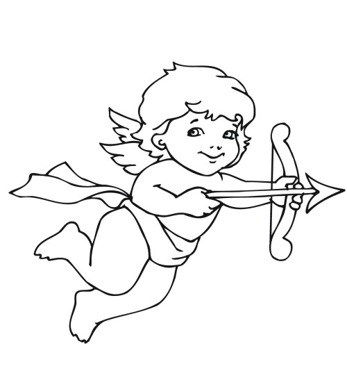 Cupid and Arrow Coloring Pages