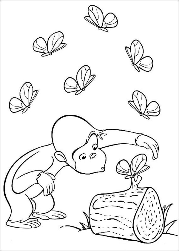 Curious George Coloring Page Printable Pages