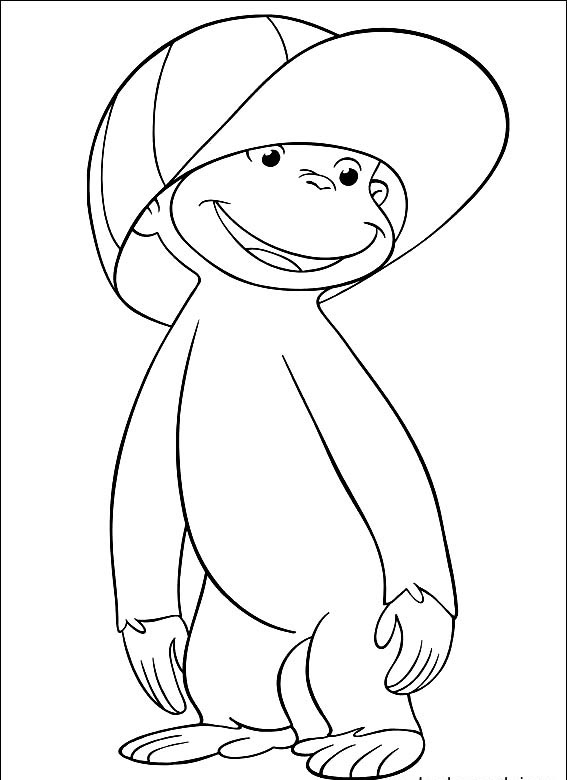 Curious George Coloring Page for Kids
