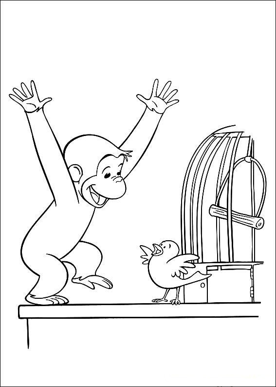 Curious George Coloring Sheet for Kids