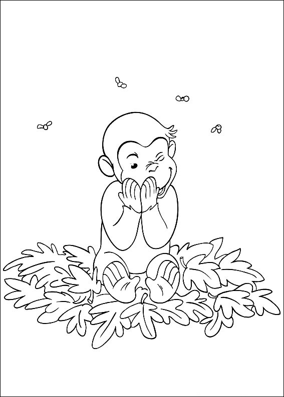 Curious George Coloring Sheet