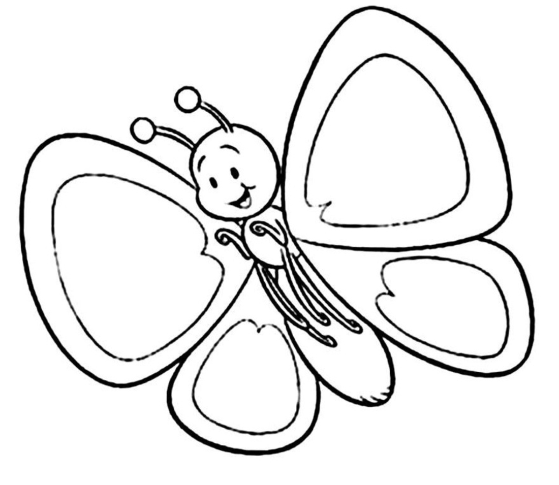 Cute Butterfly Coloring Pages Printable