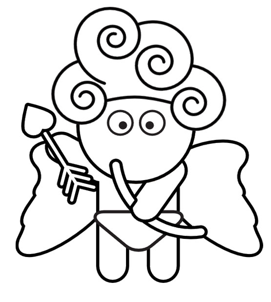 Cute Cupid Coloring Page