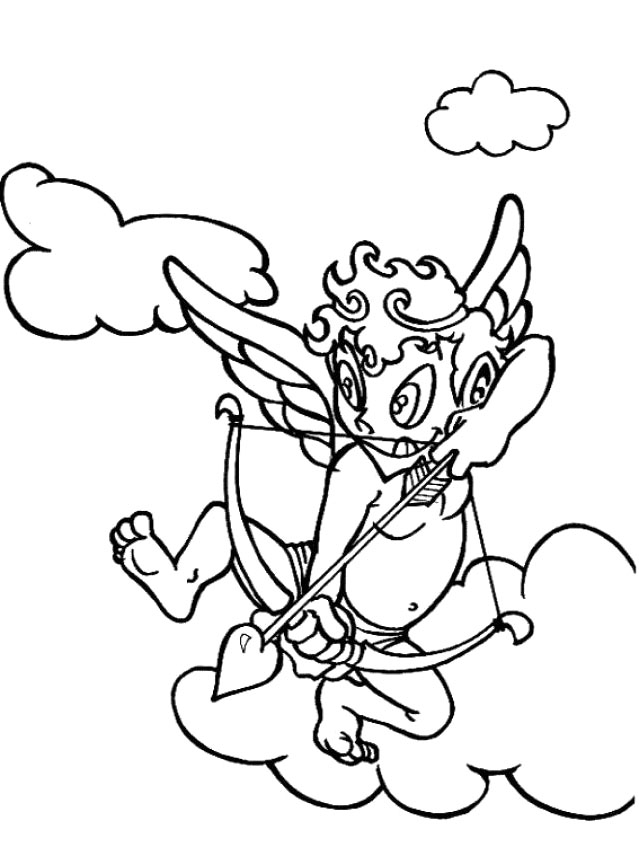 Cute Cupid Coloring Sheets Free