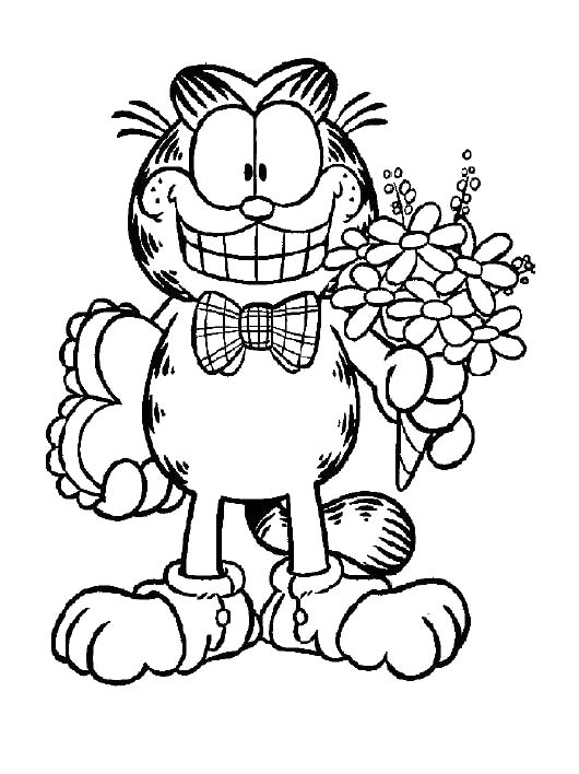 Cute Garfield Coloring Pages