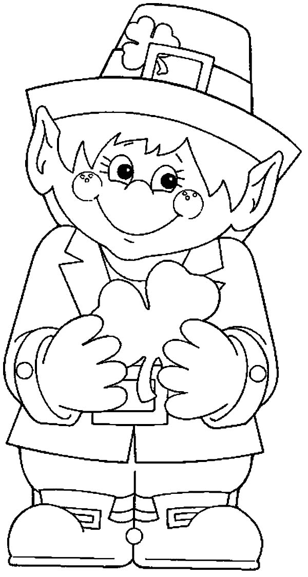 Cute Leprechaun Coloring Pages