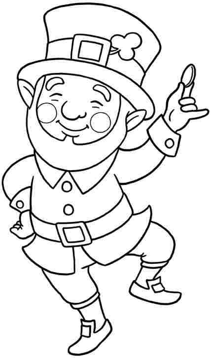Cute Leprechaun Coloring Page