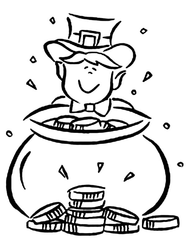 Cute Leprechaun Coloring Sheet