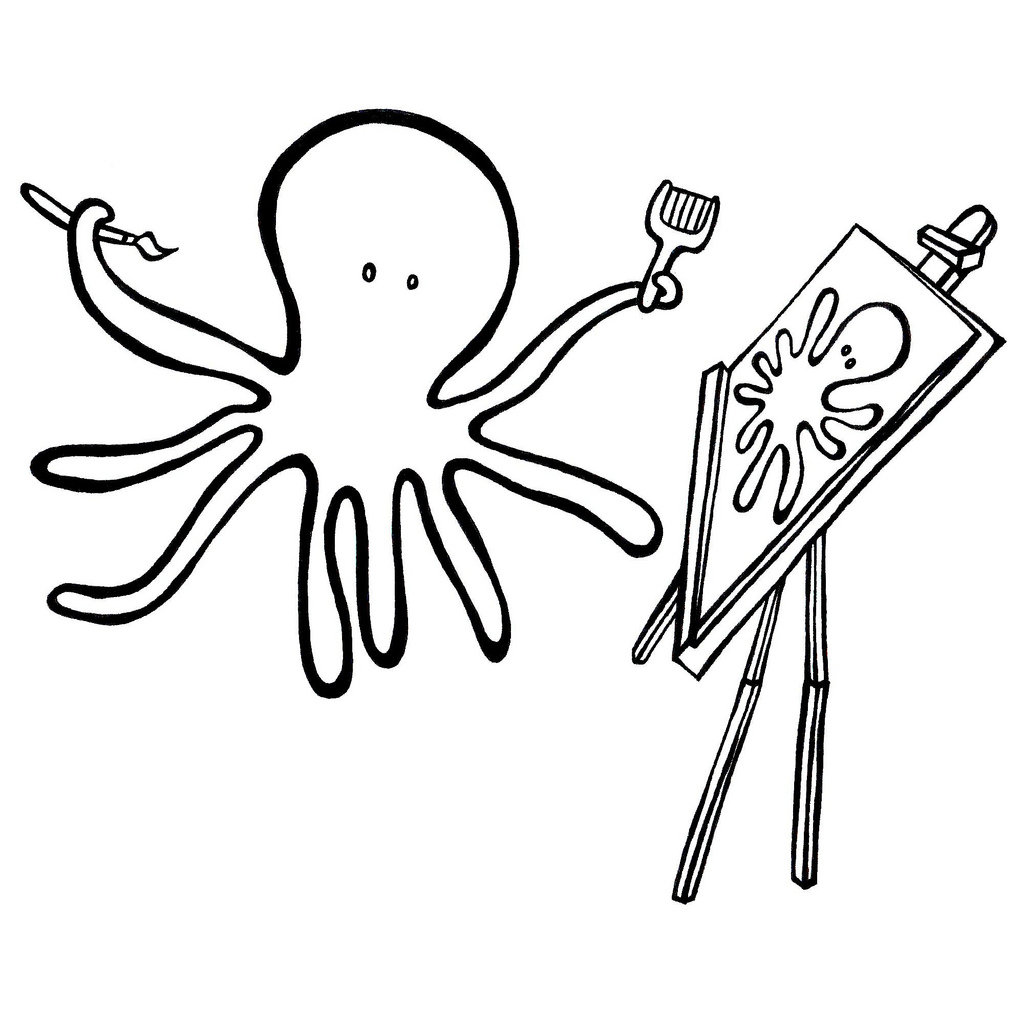 Cute Octopus Coloring Pages