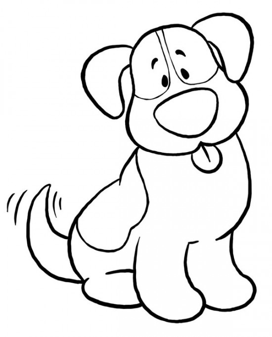 Free Printable Puppy Coloring Page Cute Pages