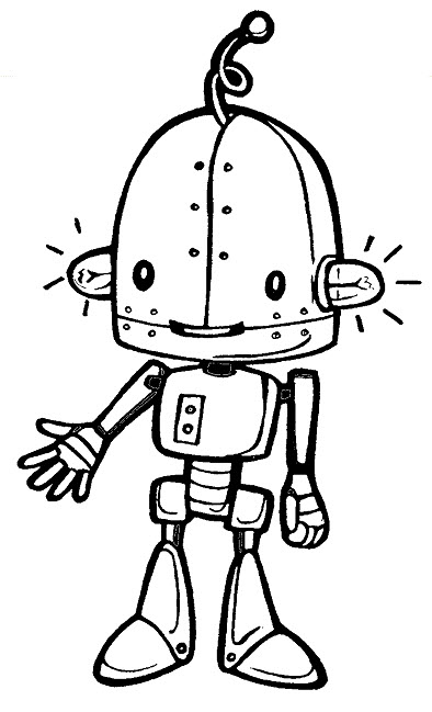 Cute Robot Coloring Pages for Kids