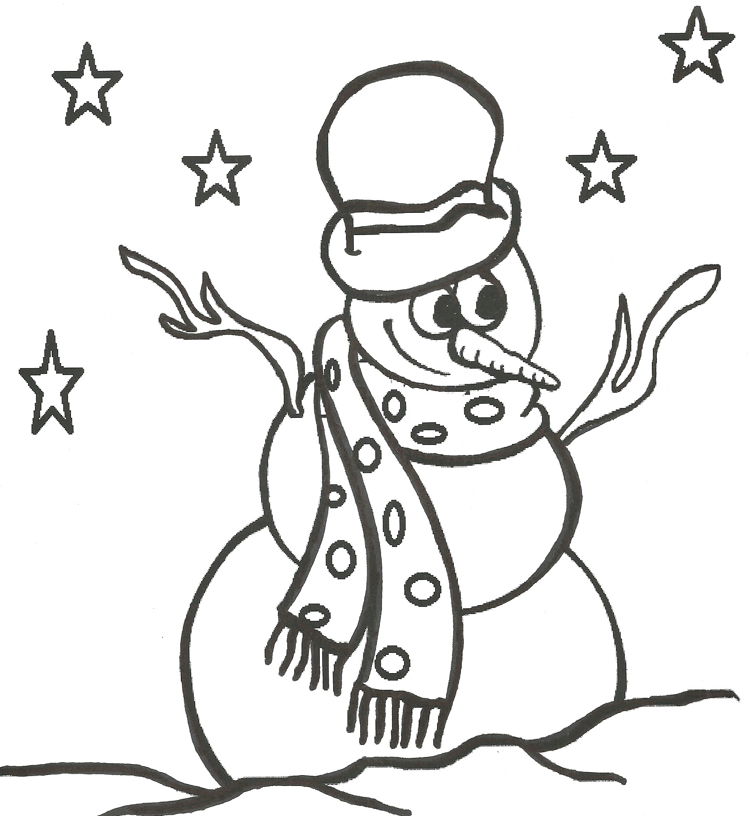 Snowman coloring pages 360coloringpages for Coloring pages of snowman
