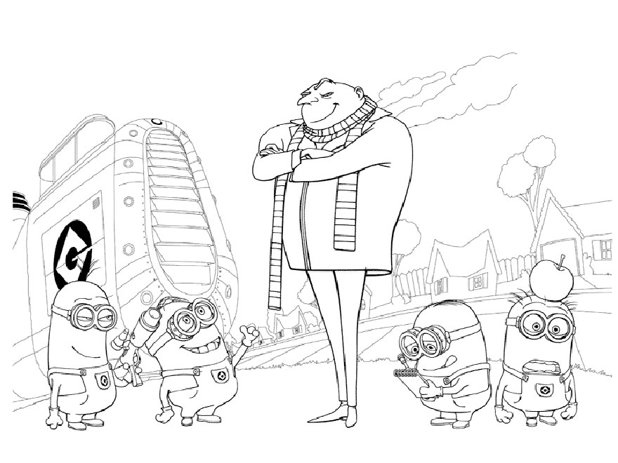 Despicable Me Coloring Page for Kids