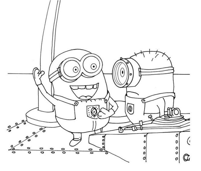 Despicable Me Coloring Pages Printable