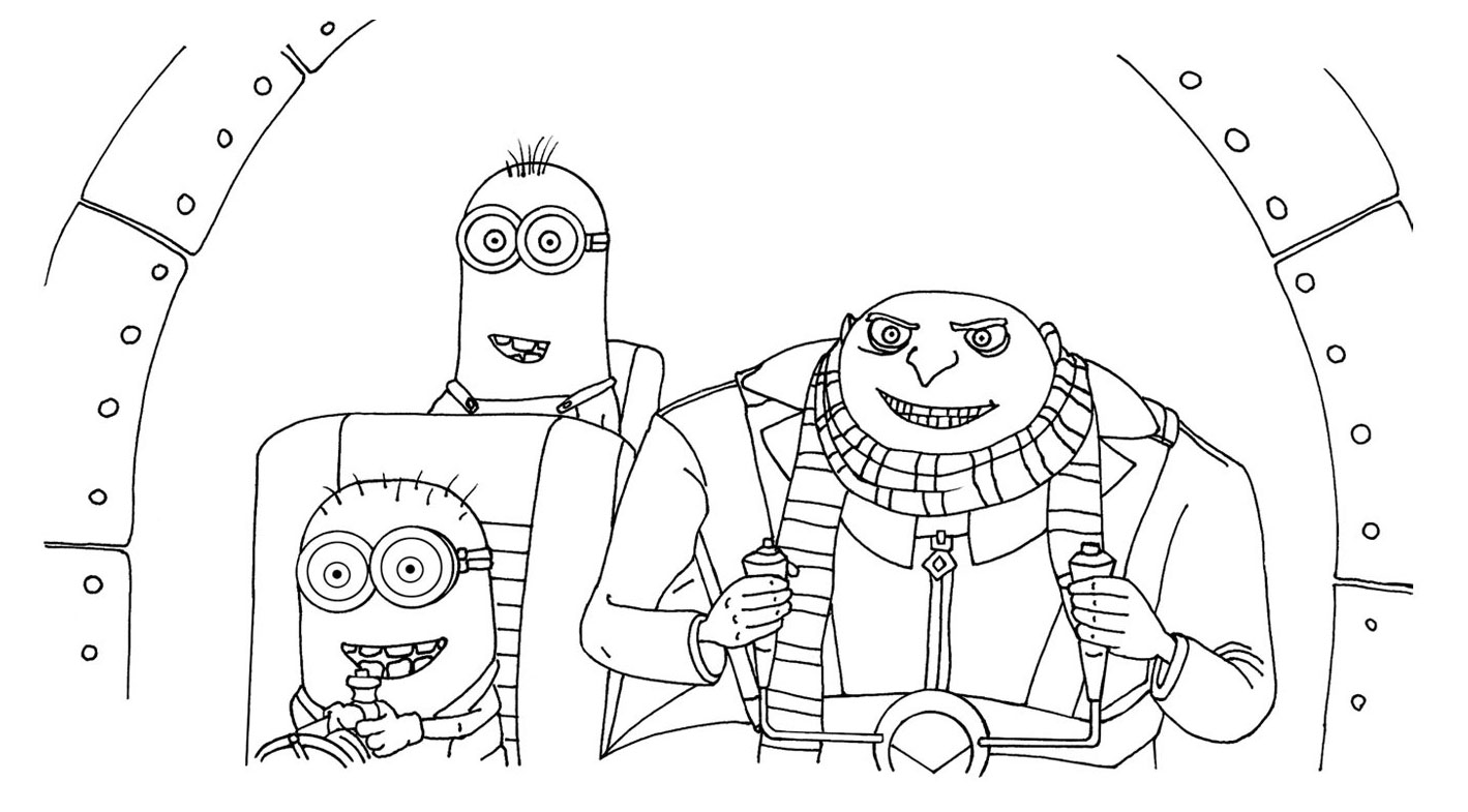 Despicable Me Pictures to Color