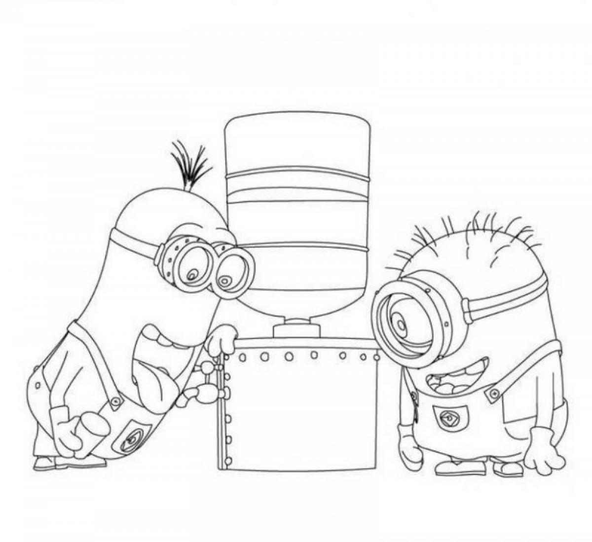 Despicable Me Coloring Sheet