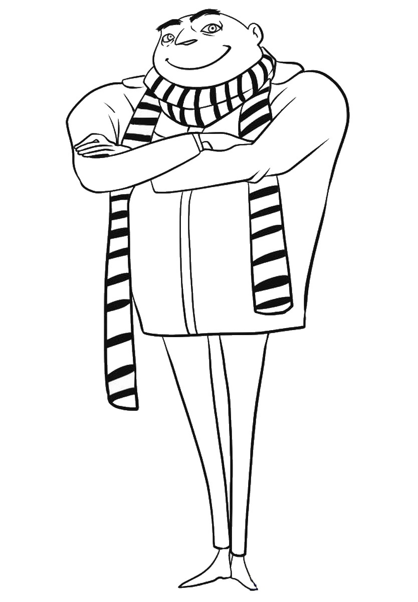 Despicable Me Coloring Pages Gru