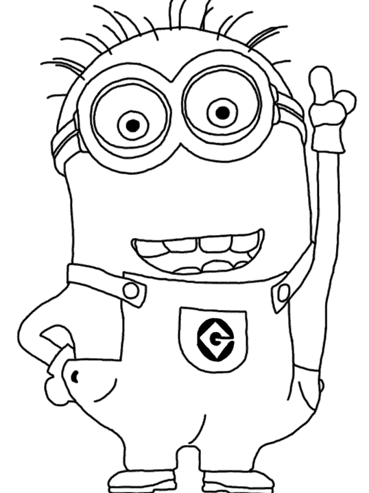 Despicable Me Coloring Pages Jerry