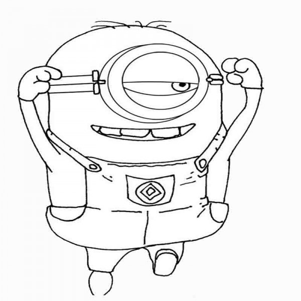 Despicable Me Minion Coloring Sheets