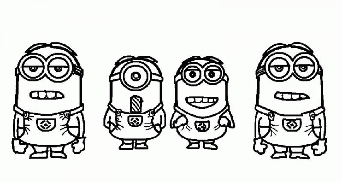 Despicable Me Minions Coloring Page