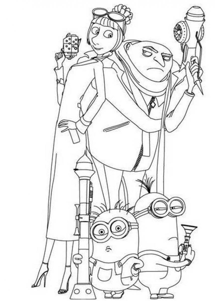 Despicable Me Minions Coloring Pages Printable