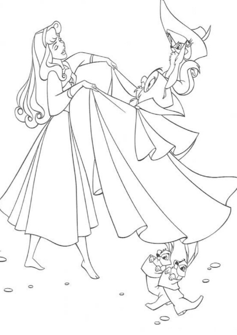Disney Princess Sleeping Beauty Coloring Page