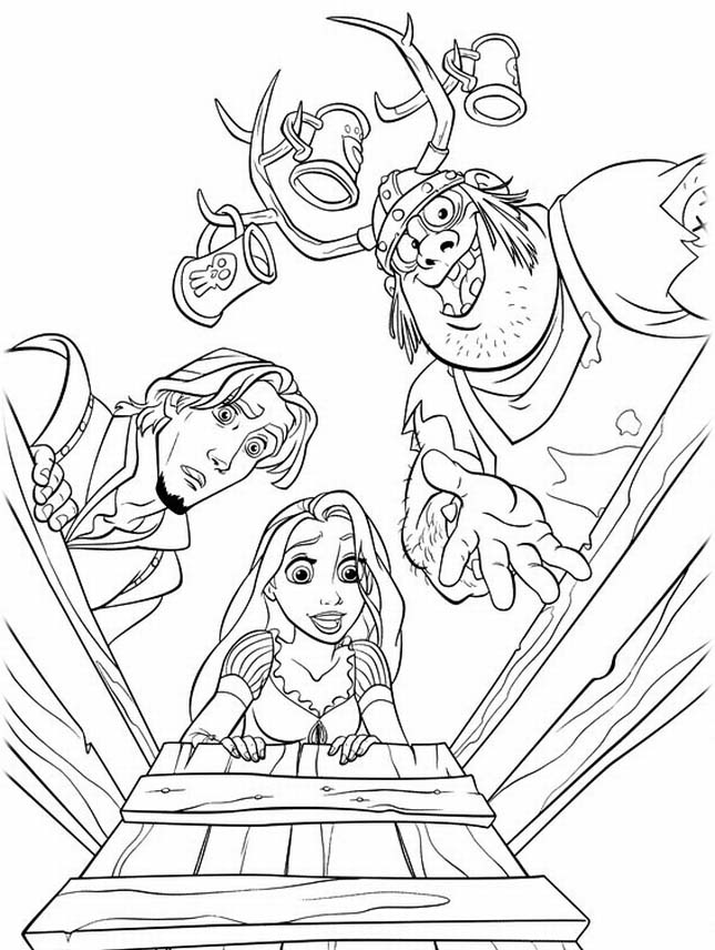 Free Disney Tangled Rapunzel Coloring Pages