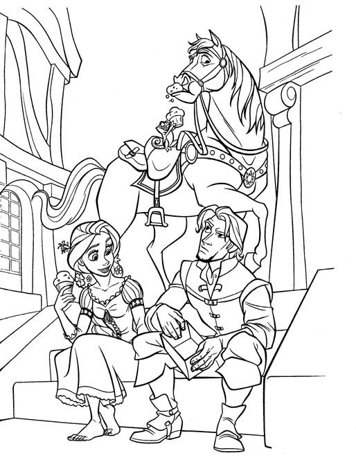 Disney Tangled Rapunzel Coloring Pages Printable