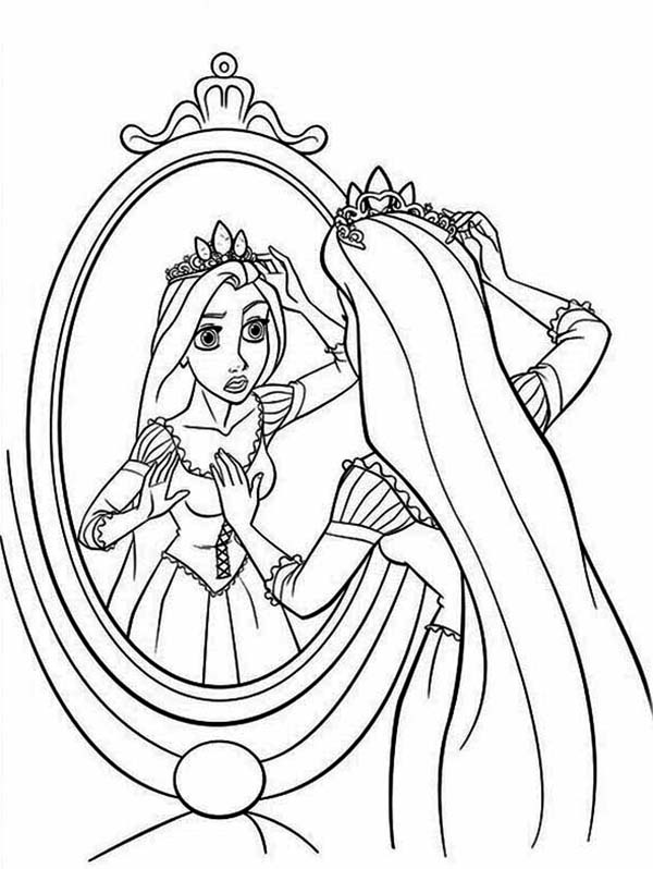 Disney Tangled Rapunzel Coloring Page