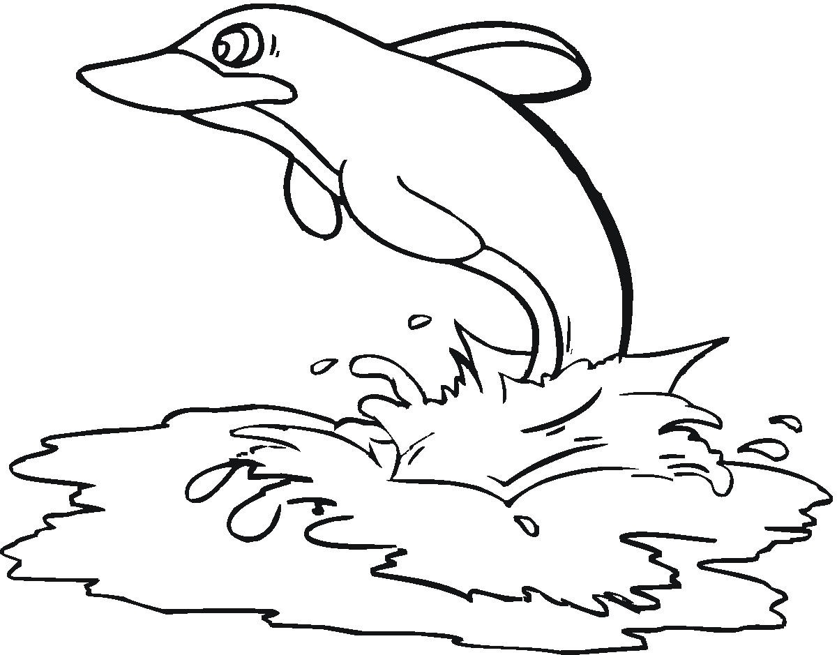 Free Dolphin Coloring Pages for Adults