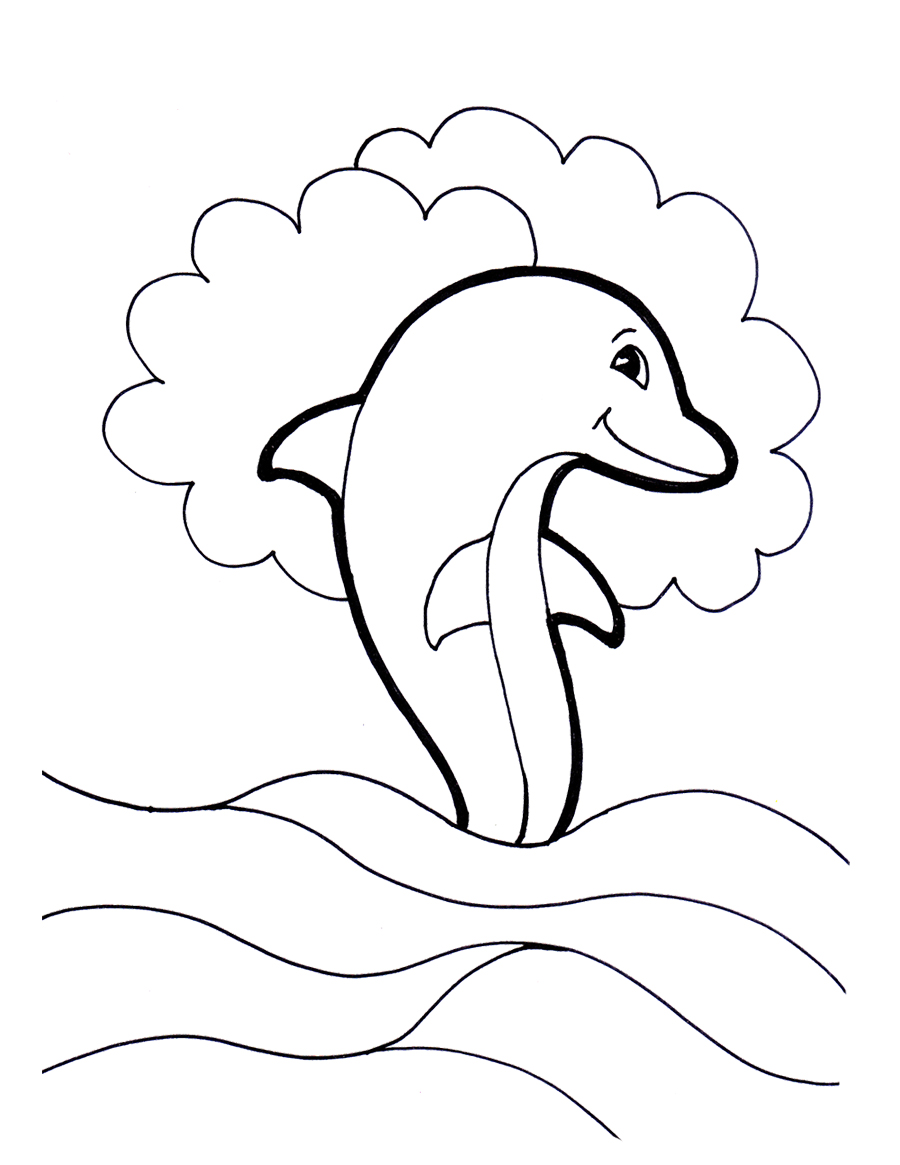 Free Dolphin Coloring Pages for Girls