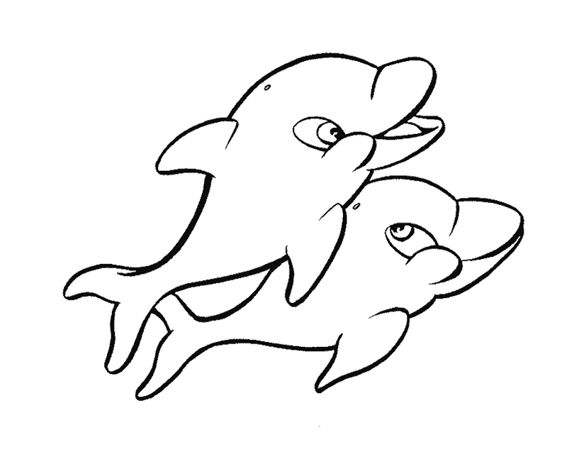 Free Dolphin Coloring Pages for Kids