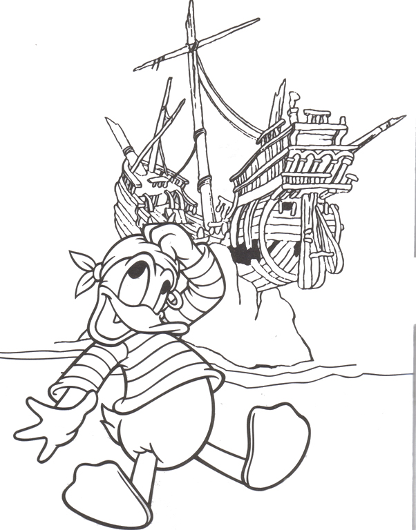 Donald Duck Coloring Pages Printable
