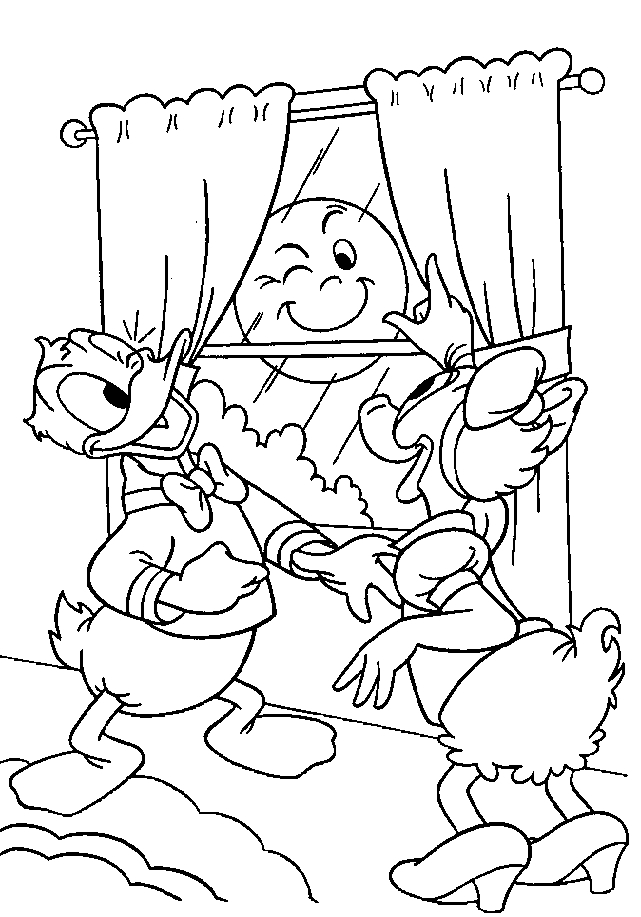 Donald Duck and Daisy Duck Coloring Page