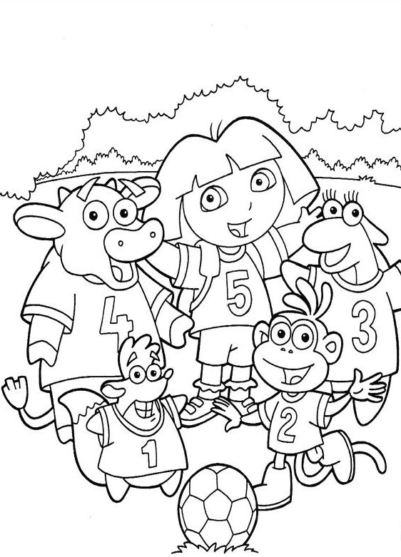 Dora Coloring Pages for Kids