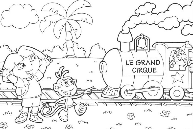 Dora Coloring Pages Free