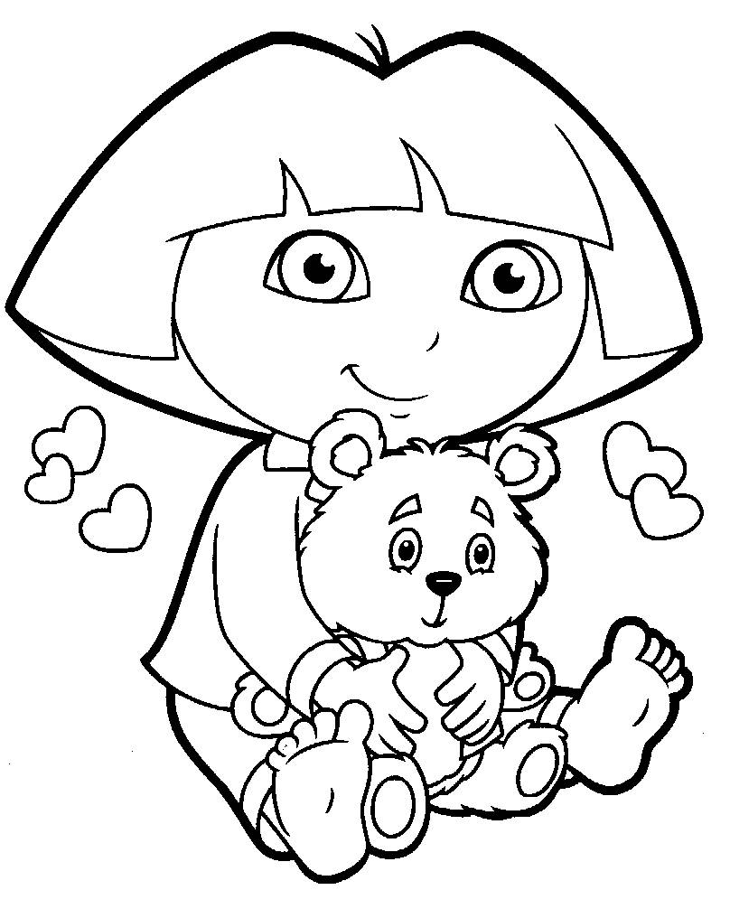 Dora Coloring Page for Kids