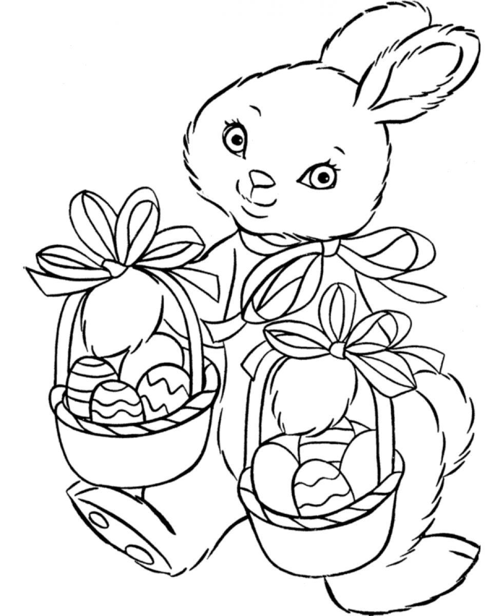 easter bunny coloring in pages | Easter Bunny Coloring Pages | 360ColoringPages