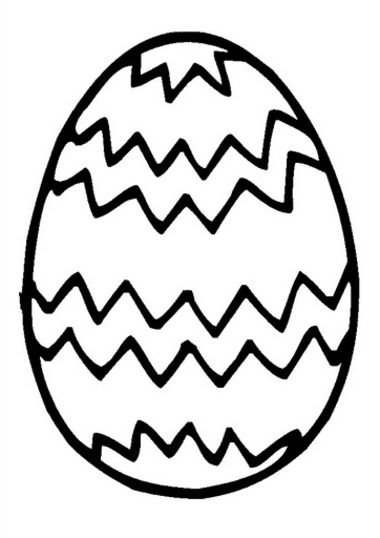 Easter Egg Coloring Pages for Preschoolers