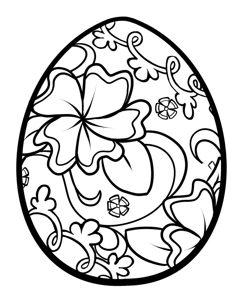 Easter Egg Pictures to Color