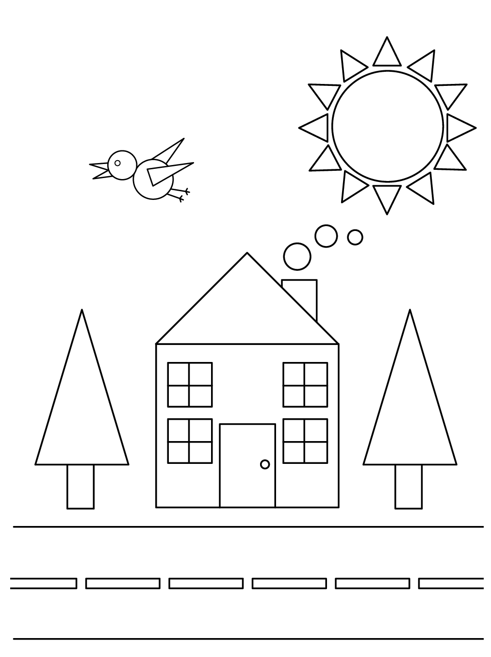 Geometric Coloring Page For Christmas Easy Geometric Coloring Page