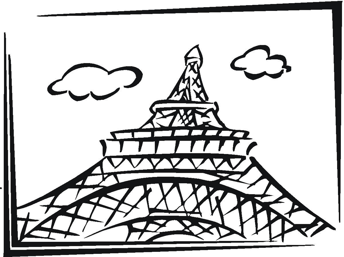 Eiffel Tower Coloring Image