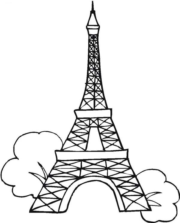 Line Drawing Eiffel Tower : Eiffel tower coloring pages coloringpages