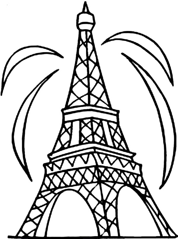 coloring pages eifell tower | Eiffel Tower Coloring Pages | 360ColoringPages