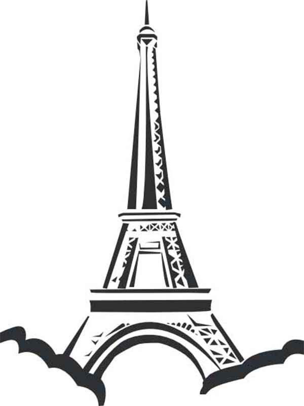 Eiffel Tower Coloring Pages 360coloringpages Printable For Tweens Page Of The