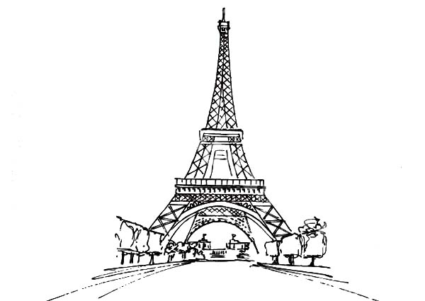Eiffel Tower Coloring Pages Printable